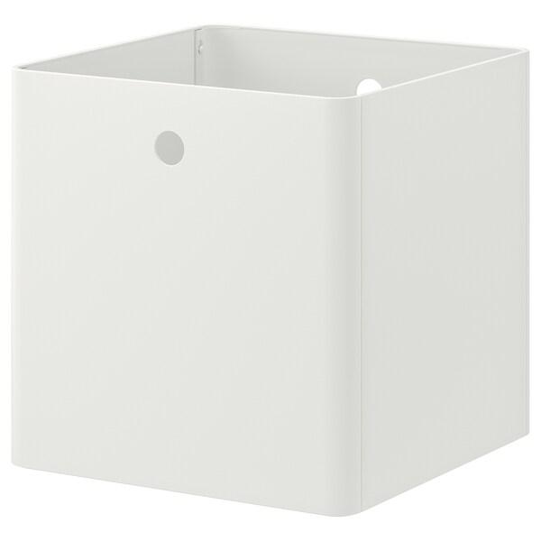 KUGGIS Opbergbak, wit, 30x30x30 cm