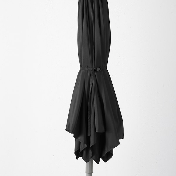 KUGGÖ / LINDÖJA Parasol, zwart, 300 cm