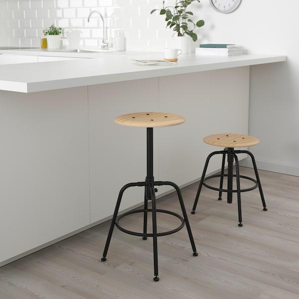 KULLABERG Kruk, grenen/zwart