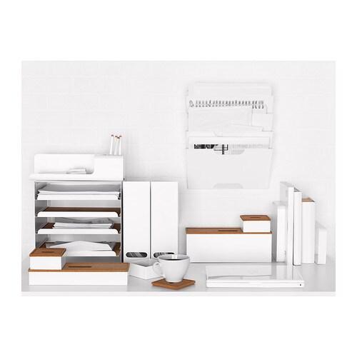 Kabelbox Ikea kvissle bak voor kabelmanagement kurk wit ikea