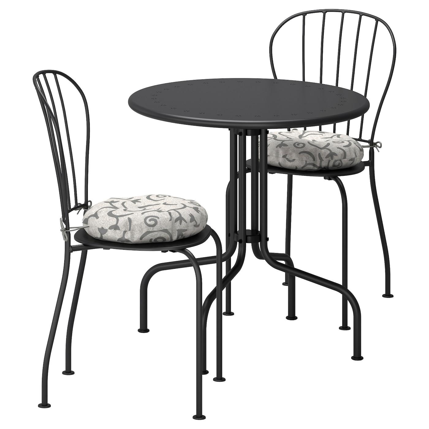 L ck tafel 2 stoelen buiten grijs steg n beige ikea for Stoelen voor buiten