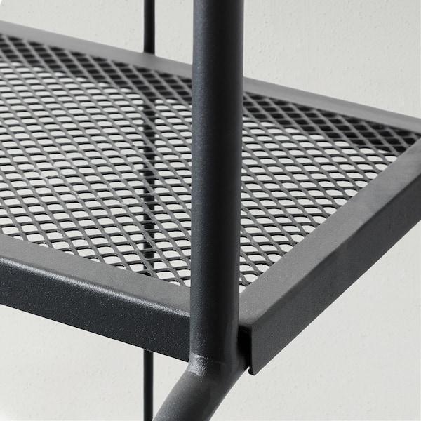 LÄCKÖ Open kast, buiten, grijs, 61x160 cm