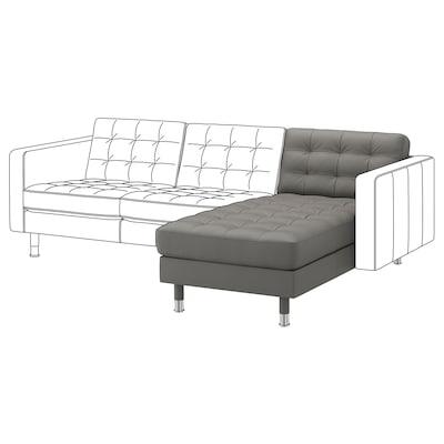 LANDSKRONA Chaise longue, aanbouwdeel, Grann/Bomstad grijsgroen/metaal