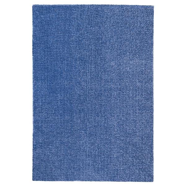 LANGSTED vloerkleed, laagpolig donkerblauw 195 cm 133 cm 13 mm 2.59 m² 2500 g/m² 1030 g/m² 9 mm
