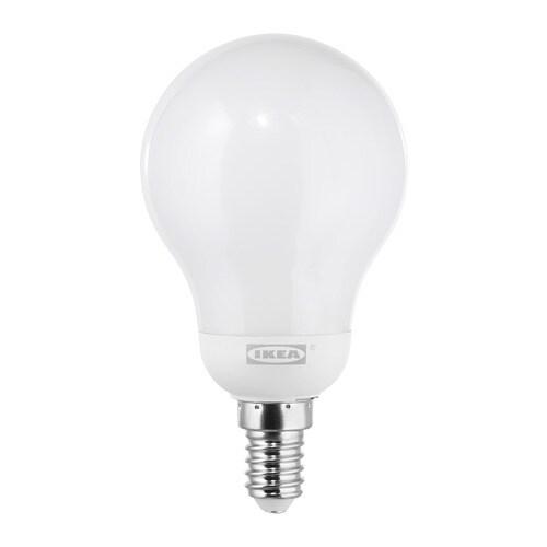 Ledare Led Lamp E14 600 Lumen Warm Dimmen Globe Opaalwit Ikea