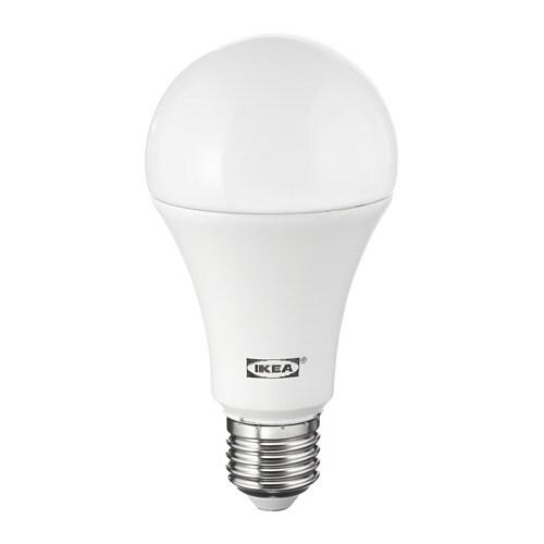 Ledare Led Lamp E27 1600 Lumen Warm Dimmen Globe Opaalwit Ikea