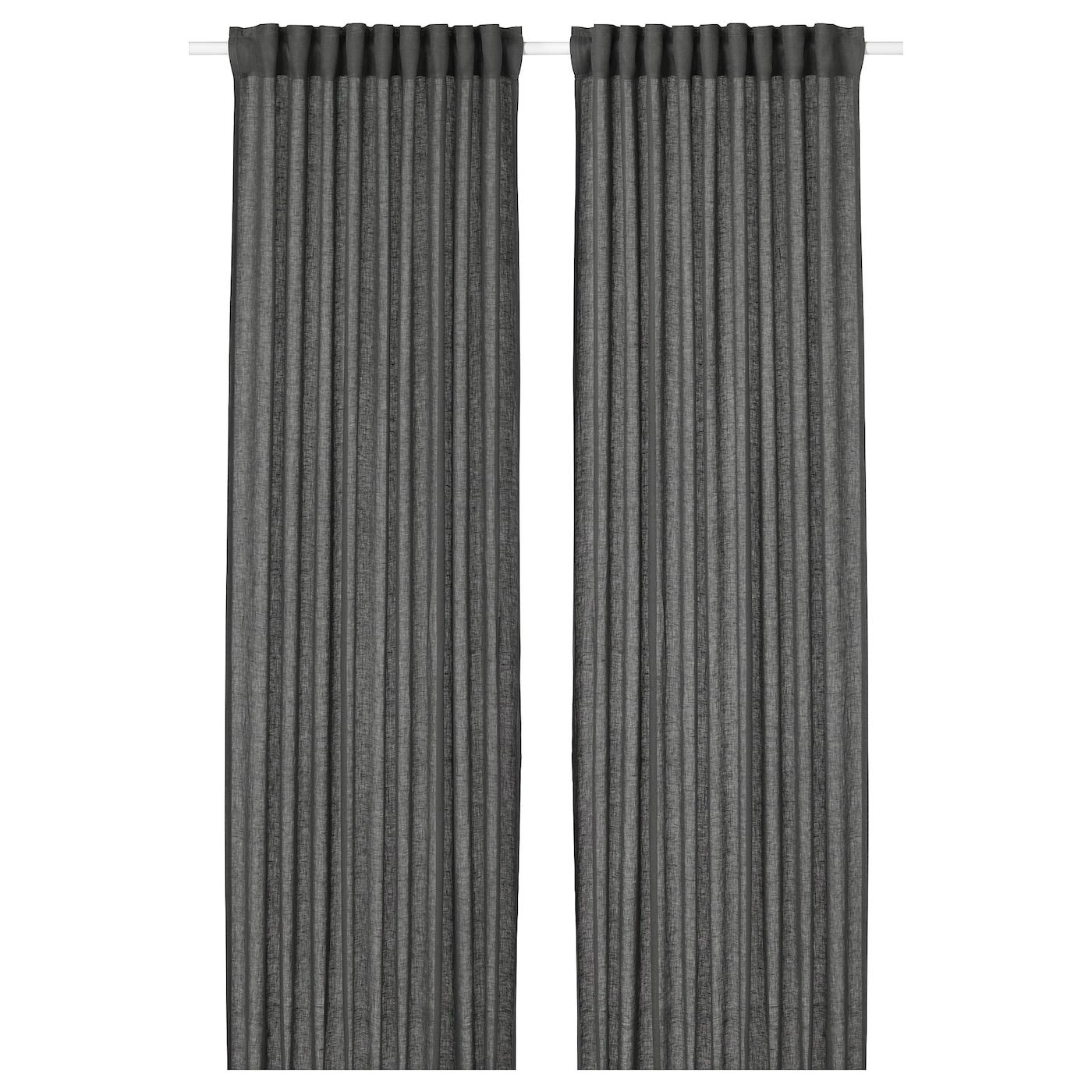 LEJONGAP Gordijnen, 1 paar Donkergrijs 145 x 300 cm - IKEA
