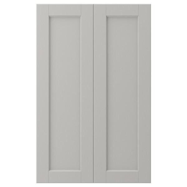 LERHYTTAN Deur onderhoekkast, 2-delig, lichtgrijs, 25x80 cm