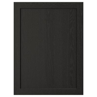 LERHYTTAN Deur, zwart gelazuurd, 60x80 cm