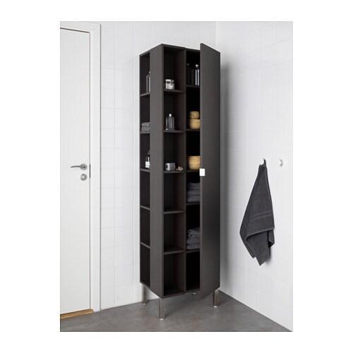 LILLÅNGEN Hoge kast 1 deur/2 afsluitelementen Zwartbruin 49 x 38 x ...