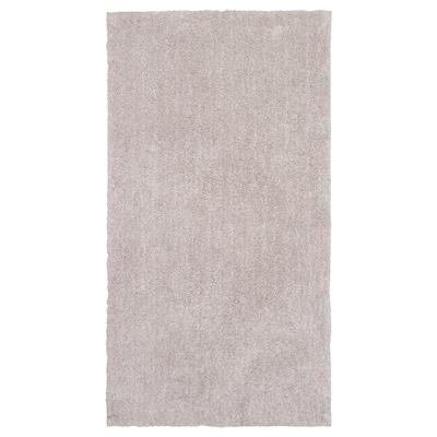 LINDKNUD Vloerkleed, hoogpolig, beige, 80x150 cm