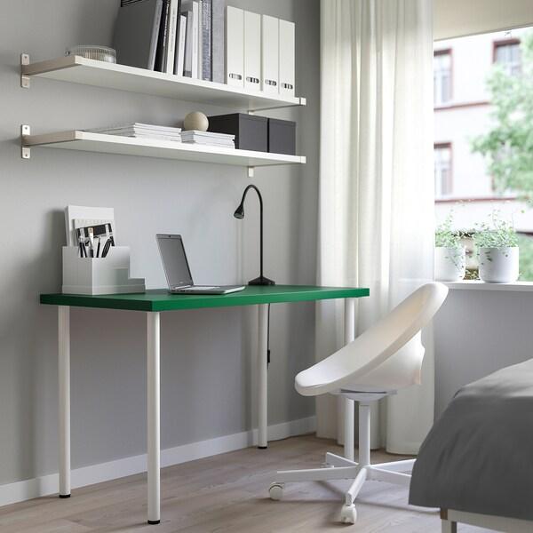 LINNMON / ADILS Tafel, groen/wit, 120x60 cm
