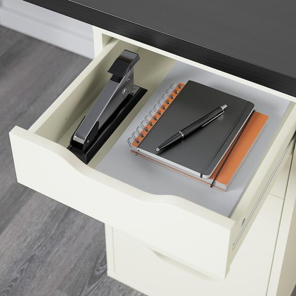 LINNMON / ALEX Tafel, zwartbruin/wit, 120x60 cm