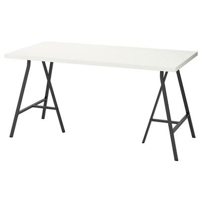 LINNMON / LERBERG Tafel, wit/grijs, 150x75 cm