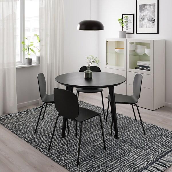 LISABO tafel zwart 105 cm 74 cm 105 cm