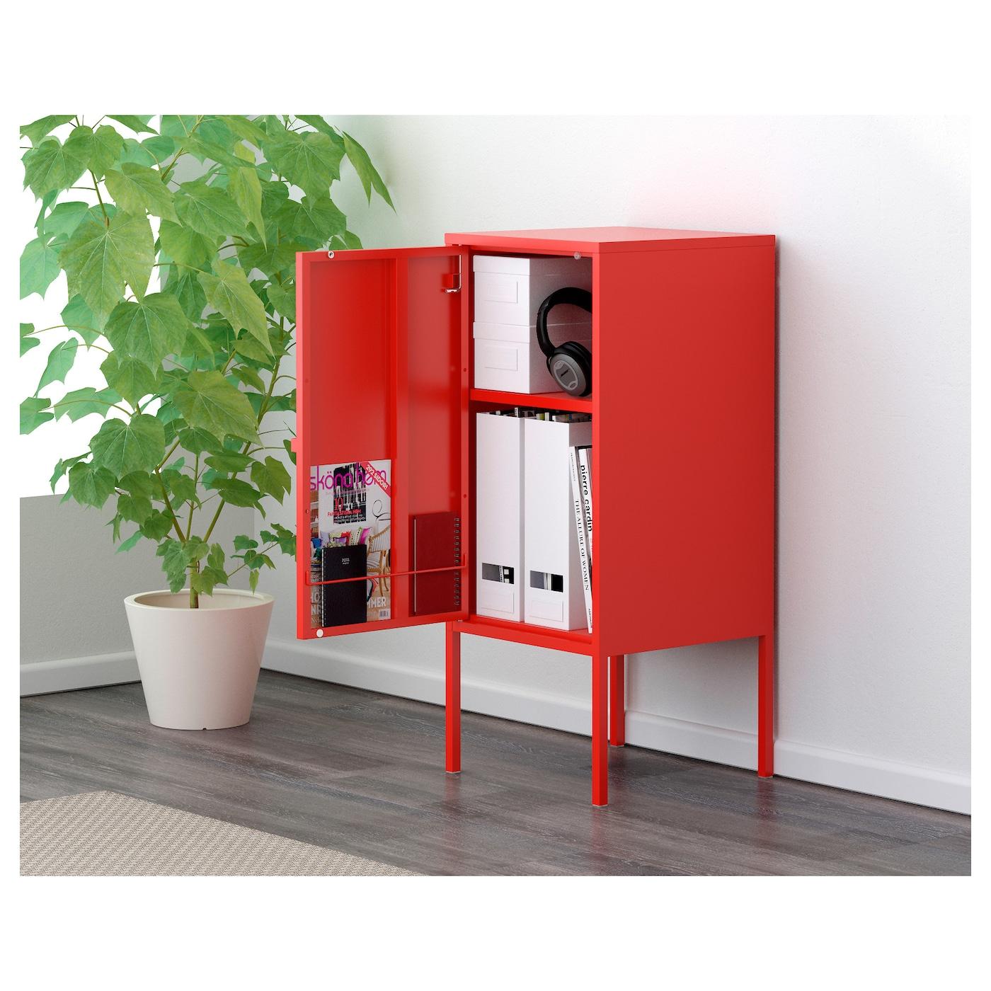 Lixhult kast metaal rood 35x60 cm ikea - Ikea mobile metallo ...