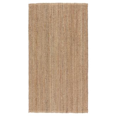 LOHALS Vloerkleed, glad geweven, naturel, 80x150 cm