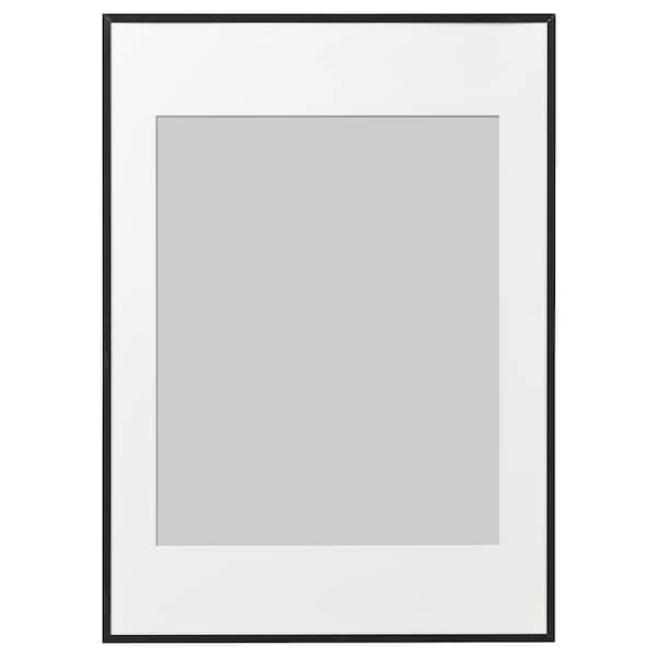 LOMVIKEN Fotolijst, zwart, 50x70 cm