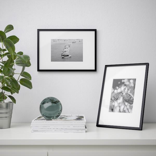 LOMVIKEN Fotolijst, zwart, 21x30 cm