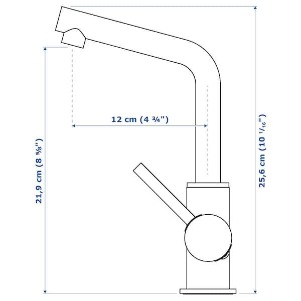 LUNDSKÄR Wastafelmengkraan & bodemventiel, roestvrij staalkleur