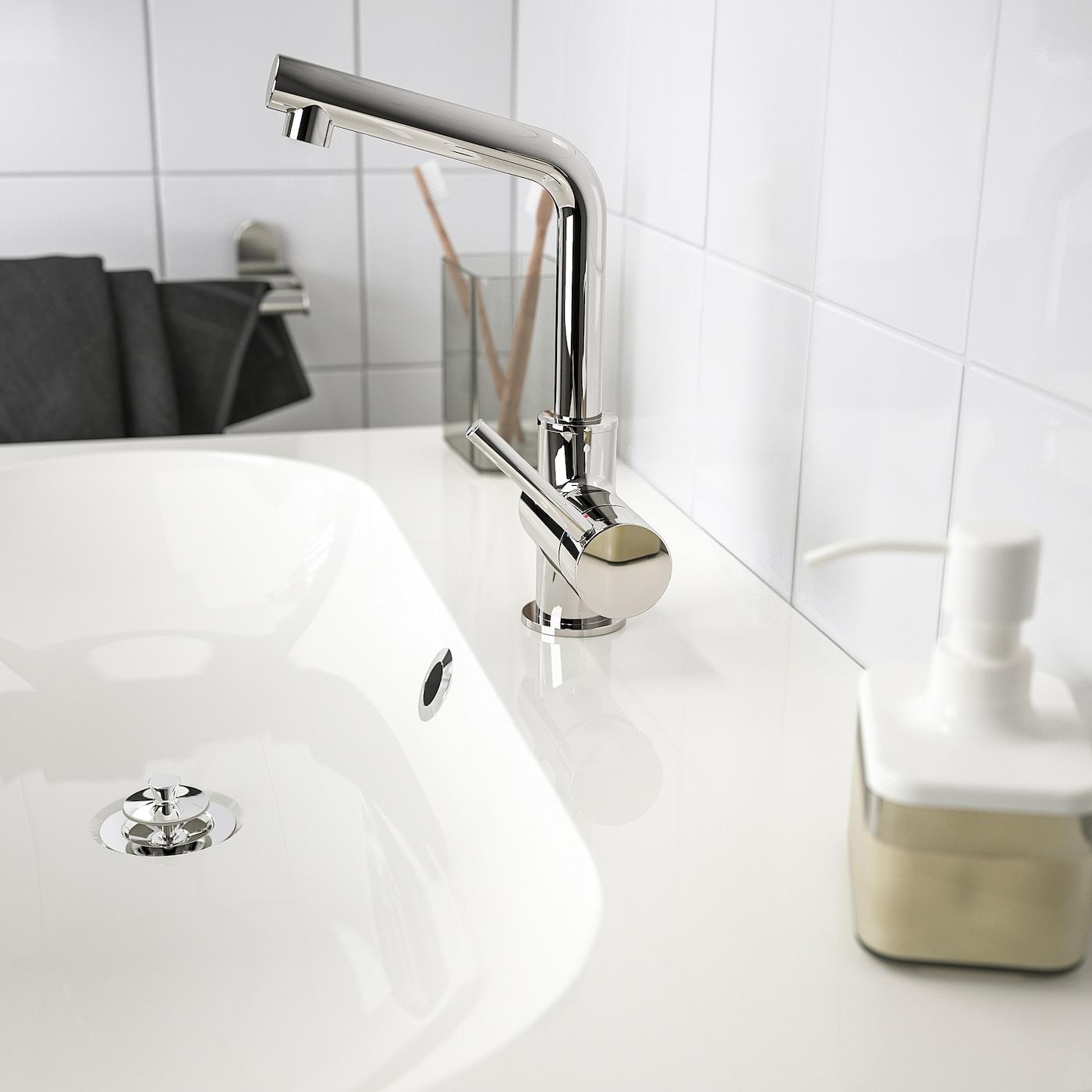 LUNDSKÄR Wastafelmengkraan & bodemventiel, verchroomd