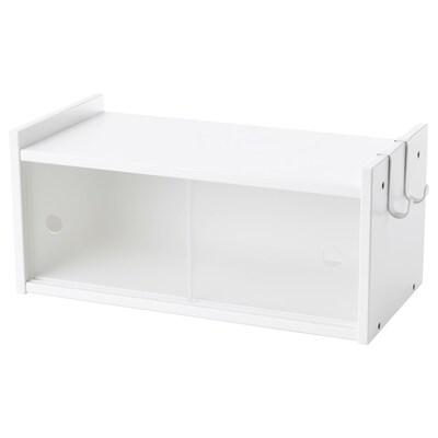 LURVIG Bovenkast met schuifdeuren, wit, 40x18 cm