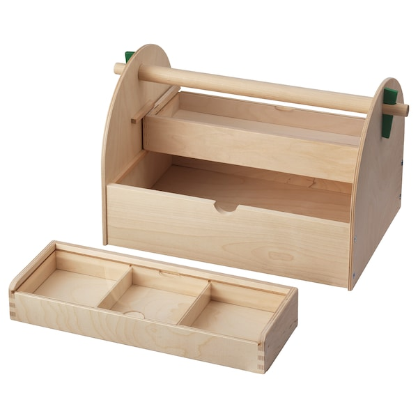 LUSTIGT Opberger knutselspullen, hout