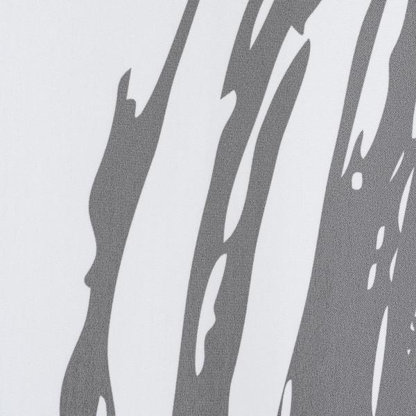 LYKTFIBBLA Douchegordijn, wit/grijs, 180x200 cm