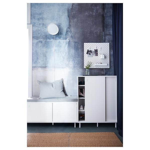 MACKAPÄR Bank met opbergvakken, wit, 100x51 cm