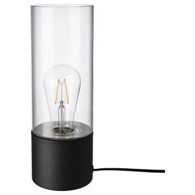 MÅCKEBO tafellamp zwart/transparant glas 13 W 28 cm 10 cm 1.8 m