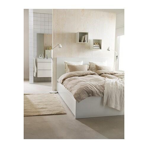 malm bedframe hoog met 4 bedlades 160x200 cm ikea