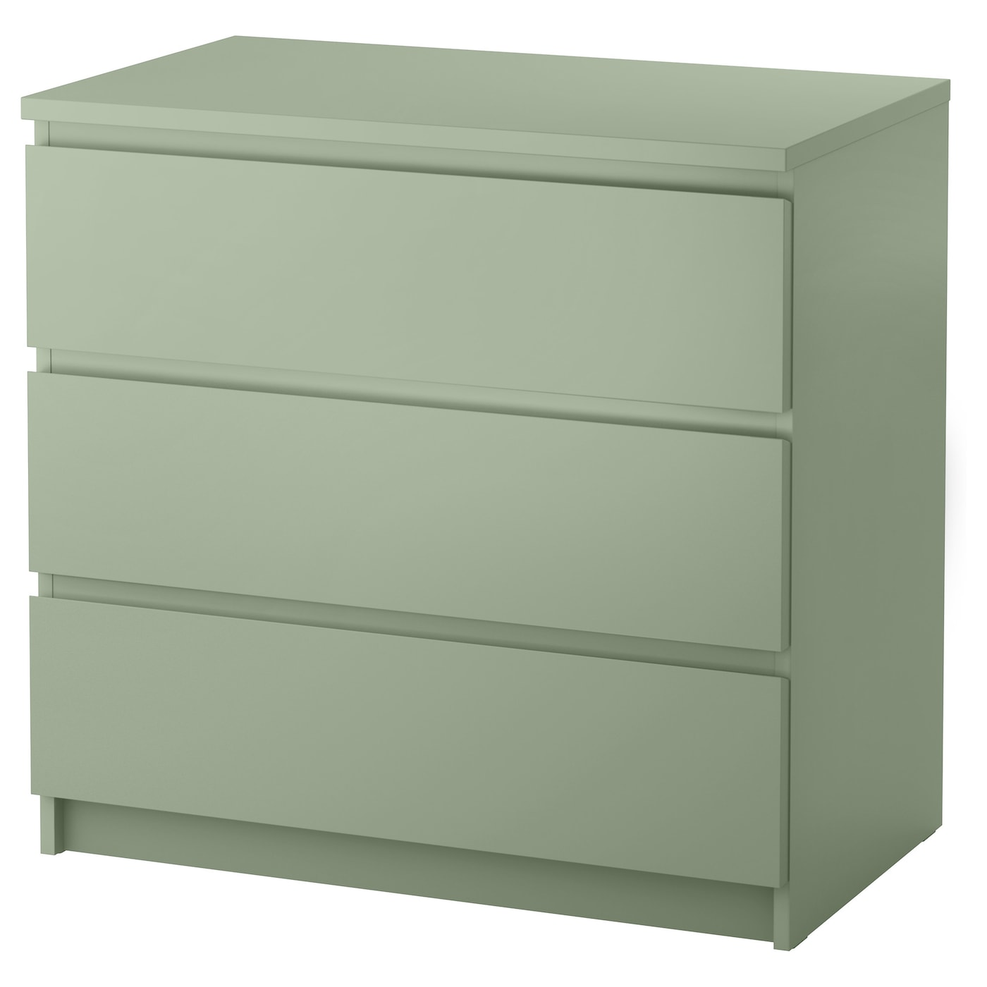 MALM Ladekast 3 lades Lichtgroen 80x78 cm - IKEA