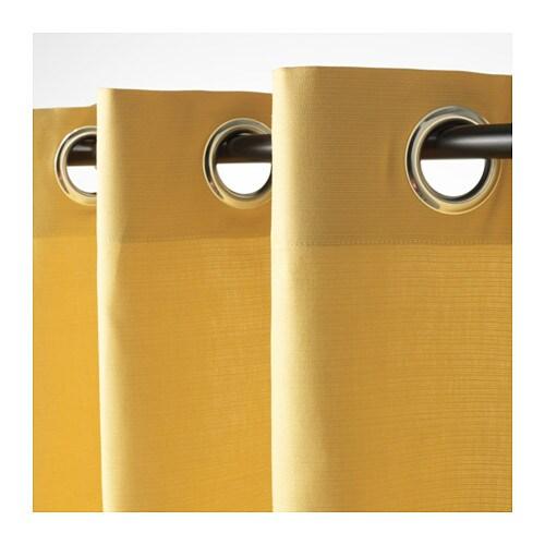 MARIAM Gordijnen, 1 paar Geel 145 x 300 cm - IKEA