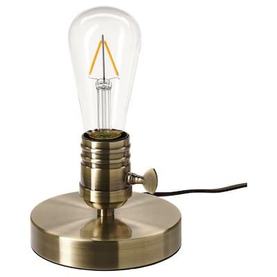 MEGAGRAM / LUNNOM tafellamp met lichtbron messing/druppelvorm