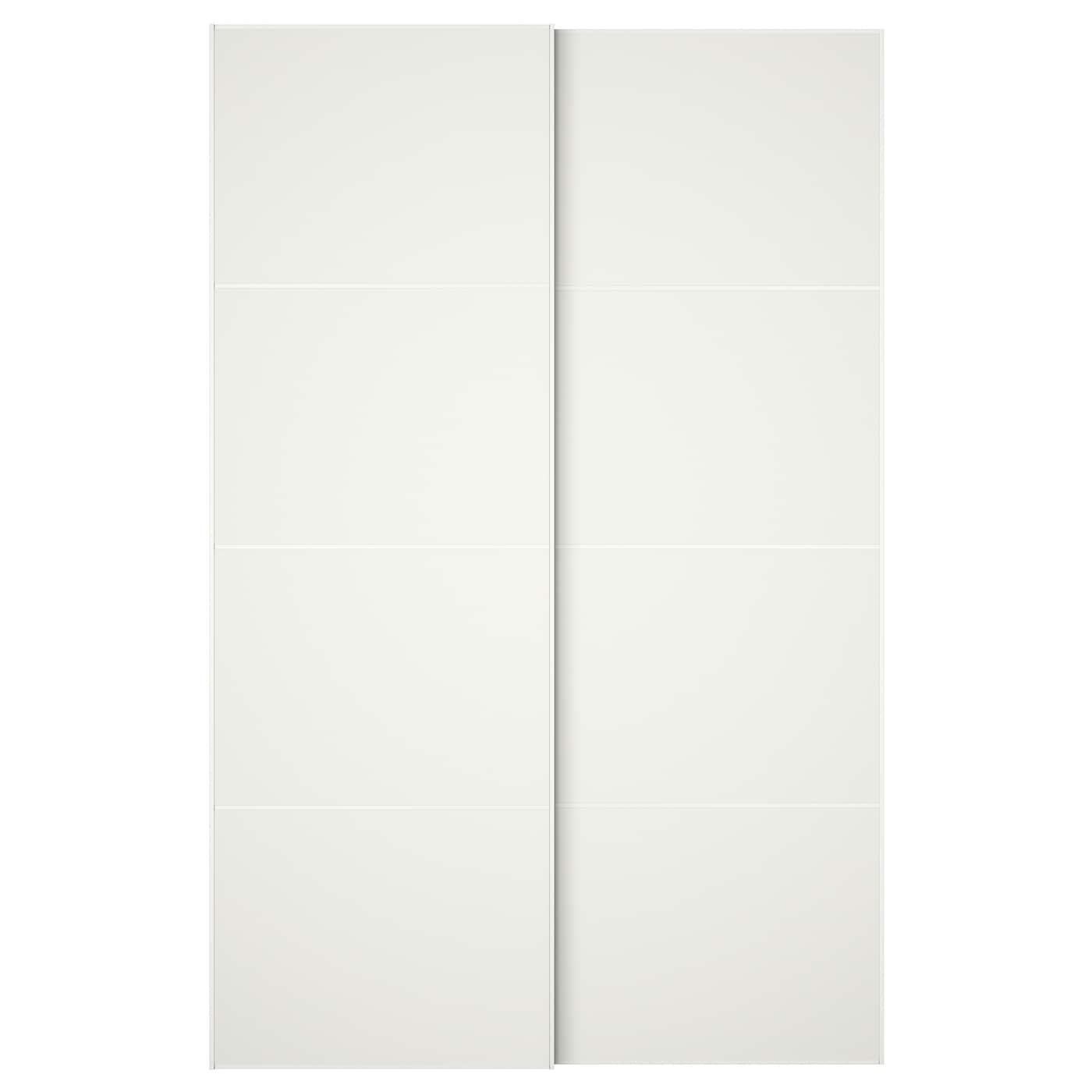 mehamn schuifdeur, set van 2 wit 150x236 cm - ikea