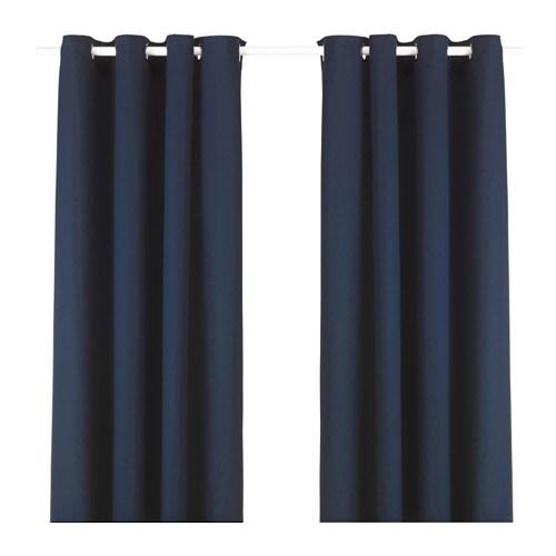 MERETE Gordijnen, 1 paar Blauw 145 x 300 cm - IKEA