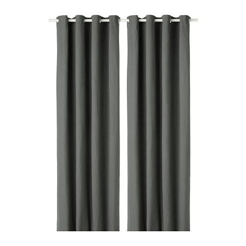 MERETE Gordijnen, 1 paar Grijs 145x300 cm - IKEA
