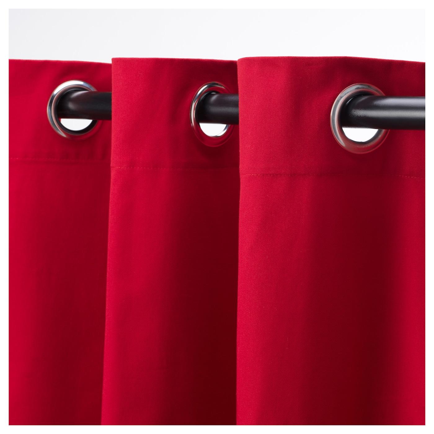 MERETE Gordijnen, 1 paar Rood 145x300 cm - IKEA