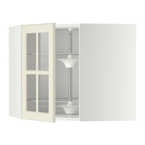 Keuken Carrousel Ikea : Corner Kitchen Wall Cabinets with Glass Fronts