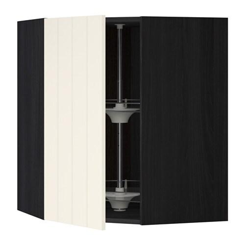 metod bovenhoekkast met carrousel houteffect zwart hittarp ecru 68x80 cm ikea. Black Bedroom Furniture Sets. Home Design Ideas