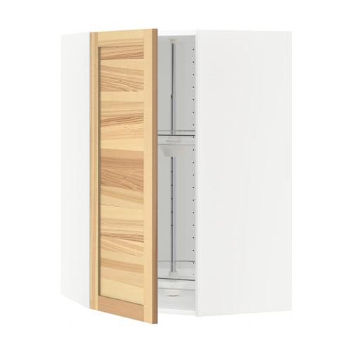 metod bovenhoekkast met carrousel wit torhamn naturel essen 68x100 cm ikea. Black Bedroom Furniture Sets. Home Design Ideas