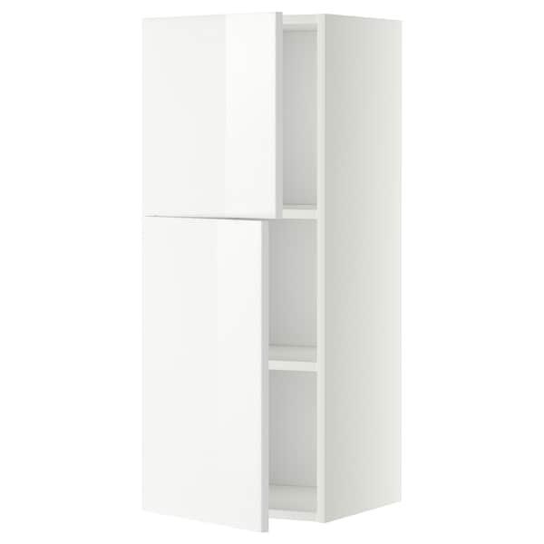 METOD Bovenkast met planken/2 deuren, wit/Ringhult wit, 40x100 cm