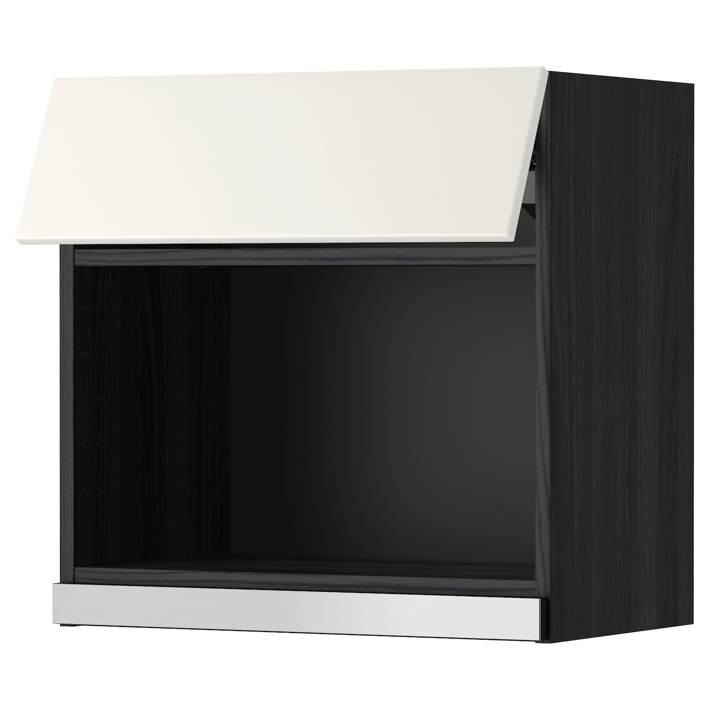 metod bovenkast voor magnetron zwart veddinge wit 60 x 60 cm ikea. Black Bedroom Furniture Sets. Home Design Ideas