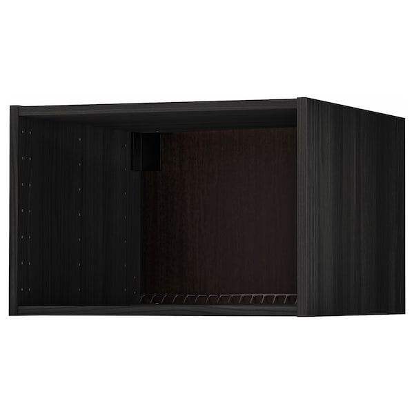 Metod Extra Bovenkast Koelkast Oven Houteffect Zwart 60x60x40 Cm Ikea