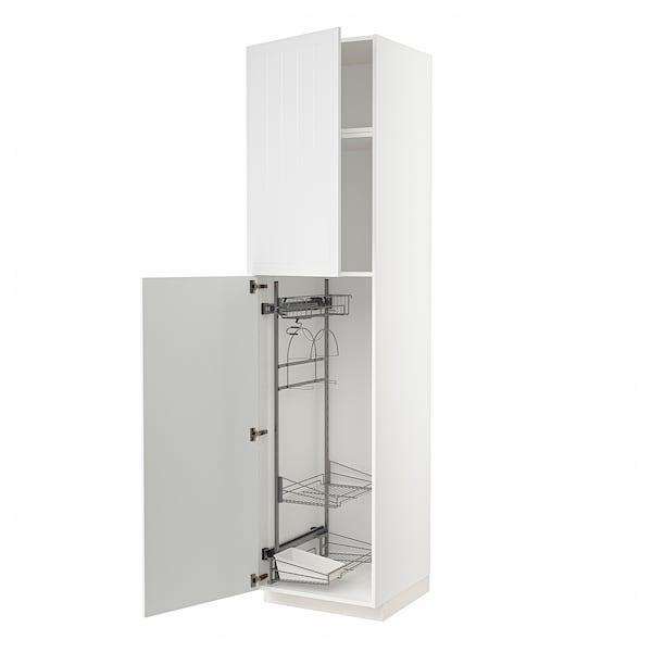 METOD Hoge kast & inrichting schoonmkast, wit/Stensund wit, 60x60x240 cm
