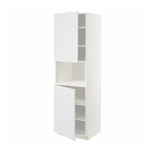 METOD Hoge kast magn m 2deur/plank, wit/Stensund wit, 60x60x200 cm