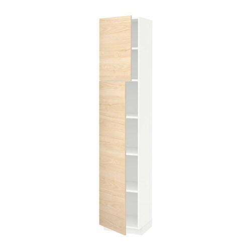 metod hoge kast met planken 2 deuren wit askersund essen 40x37x200 cm ikea. Black Bedroom Furniture Sets. Home Design Ideas