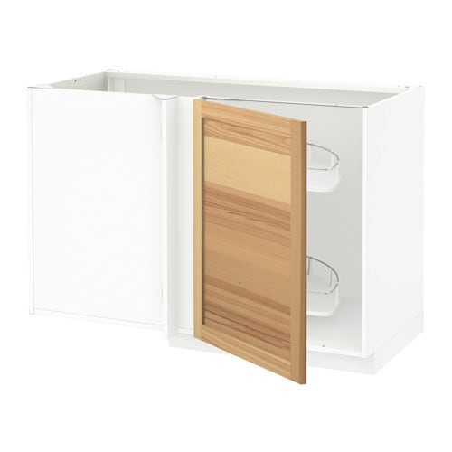 metod onderhoekkast m uittrekb inrichting wit torhamn naturel essen ikea. Black Bedroom Furniture Sets. Home Design Ideas