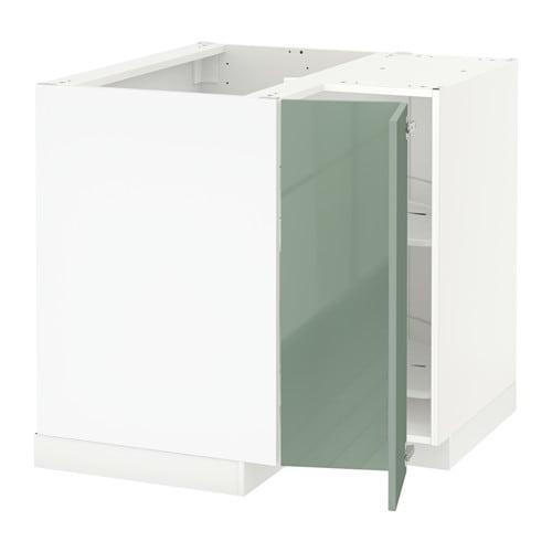metod onderhoekkast met carrousel wit kallarp hoogglans lichtgroen ikea. Black Bedroom Furniture Sets. Home Design Ideas