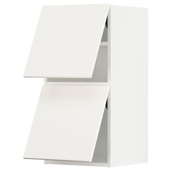 METOD Wandkast horiz 2 drn m drukopening, wit/Veddinge wit, 40x80 cm